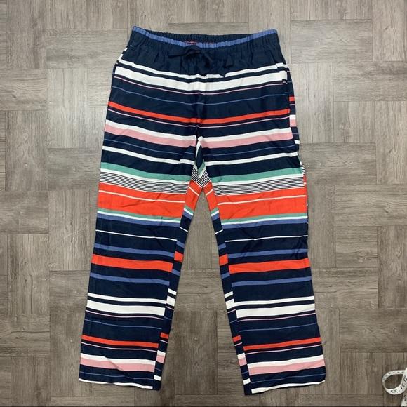 LOFT Pants - LOFT striped fluid drawstring pants